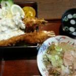 見吉屋本店  エビ定食(1000円)