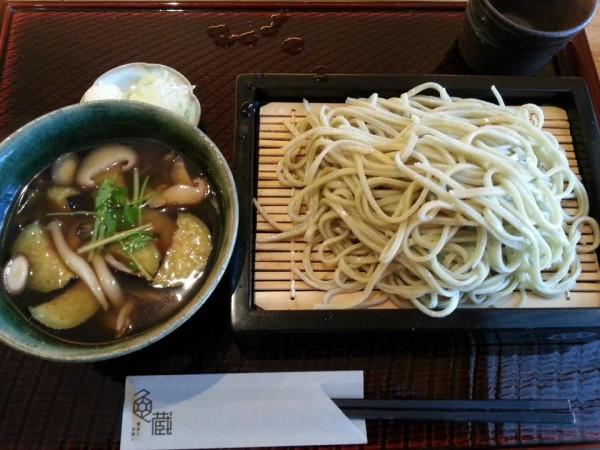 亀蔵  つけ蕎麦(あげ茄子ときのこ)950円