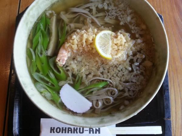 KOHAKU-AN 天ぷら蕎麦(990円)